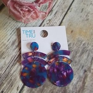 Colorful Acrylic Drop Earrings